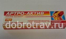 Артро-Актив бальзам масляный согревающий 20г - фото 4656